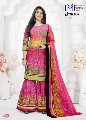 pink cotton fabric printed work occasionaly