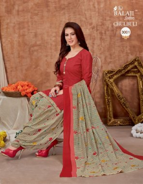 red  pure cotton fabric printed work festive