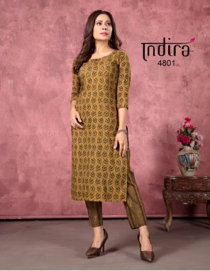 brown cambric cotton fabric printed work ethic