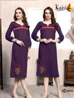 purple numo slub fabric embroidery touchup work casual
