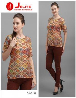 brown cotton fabric digital print work ethic