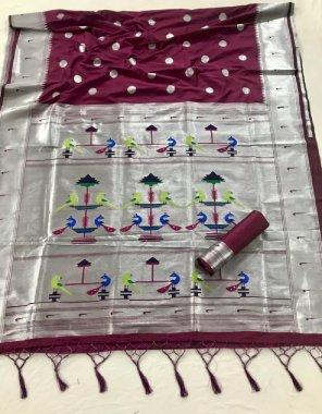 burgandi pathani silk fabric printed work casual