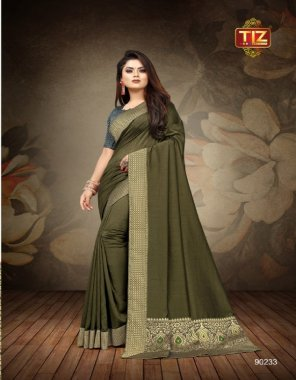 dark green georgette fabric printed work casual