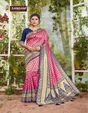 pink silk fabric printed work casual