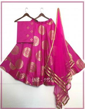 pink jacquard banarasi silk fabric printed work casual