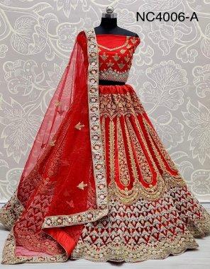 mauron net fabric duble dori embroidery , zari work, zarkan diamod  , heavy canvas atteched work wedding