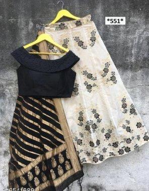 black banarsi silk fabric print work party wear