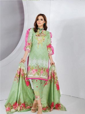 pista cotton fabric printed work casual
