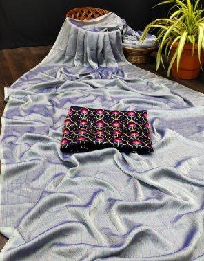 purple rambo zari fabric embroidery work ethic