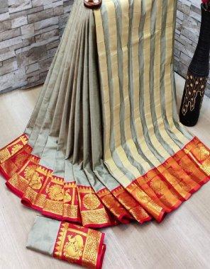gry aura silk fabric printed work casual