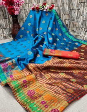 light blue lichi soft silk fabric embroidery work casual