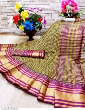 green silk fabric printed work casual
