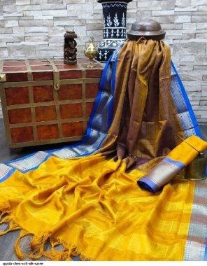 yellow soft silk fabric printed work casual