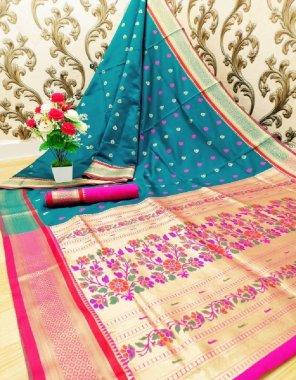 sky blue silk fabric jacquard work casual
