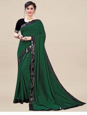 green silk blend fabric plain work casual