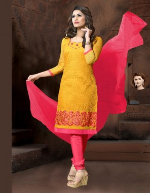 yellow model silk fabric printed work casual