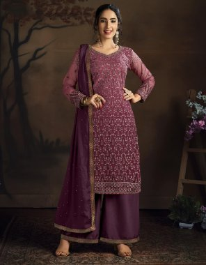 over wine net fabric embroidey work casual