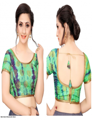 green satin fabric printed work ethic