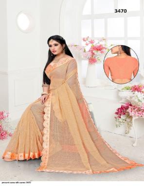 orange sana silk fabric sirosky diamond  work casual