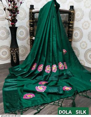 dark green satin silk fabric gota patti work work casual