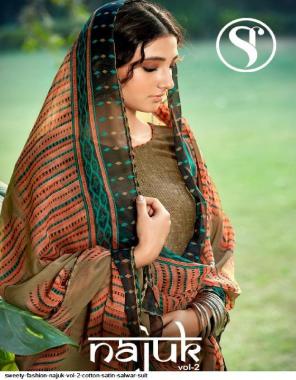 brown top - cotton satin | bottom - soft cotton | dupatta - chiffon fabric swarovski work work casual