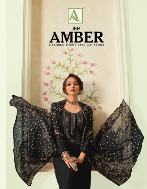 black top - pure viscose rayon | bottom - pure cotton | duppata - pure nazmeen fabric printed with fancy thread embroidery & swaroki diamond work work casual
