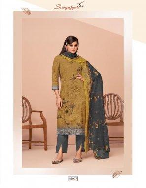 mahendi cotton fabric printed work casual