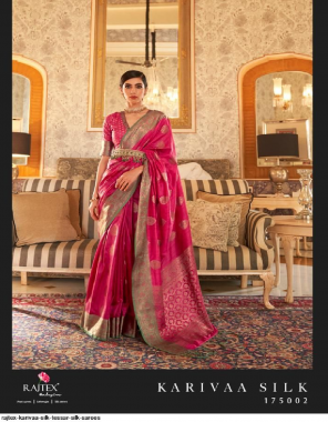 dark pink tussar silk fabric weaving work casual