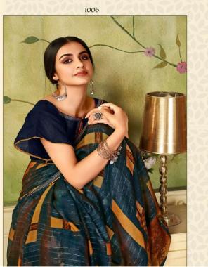 blue saree - fancy and soft fabric   blouse - banglori silk fabric print work casual