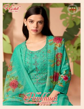 light green top - pure cotton | bottom - pure cotton | dupatta - pure nazmeen fabric thread embroidery + swarowki diamond + digital print work casual