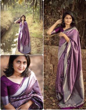 wine soft silver silk fabric weaving work casual