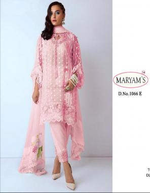 baby pink top - net | bottom - heavy dull santoon | dupatta - nazneen fabric heavy embroidery work + digital print work party wear