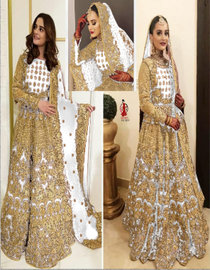 white lahenga - 9000 markable velvet + with big can can and canvas added its to stand can can | blouse- 9000 markable velvet + big size long blouse + full sleeve | dupatta - net  fabric lehenga - beautiful embroidery work fancy dori work + full of ciramic daimonds | blouse - embroidery | dupatta - heavy embroidery work with border  ( master copy) work casual