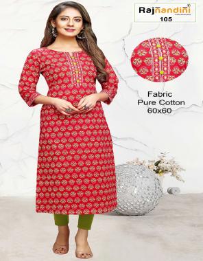 red pure cotton fabric jaipuri print work ethic