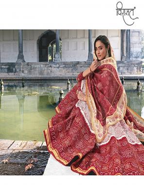 white & maroon gown - killer silk   inner - full inner in all designs with cancan net   dupatta - jeqard   length - max up to 68   fair - 4.5m fabric ajrakh digital print long kali   digital print work ethic