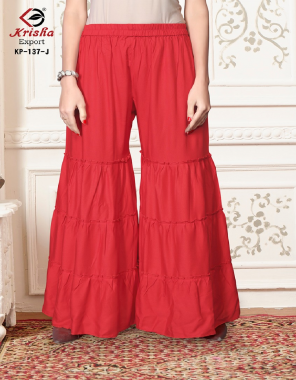 red 14kg rayon  fabric plain work casual