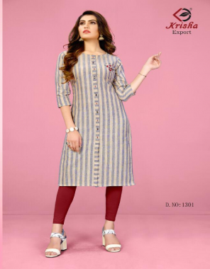 grey weaving cotton  fabric embroidery  work casual