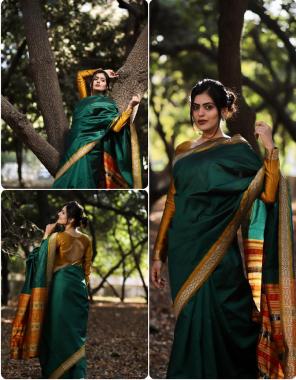 green & yellow lichi silk fabric plain work wedding