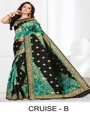 black silk fabric weaving work casual