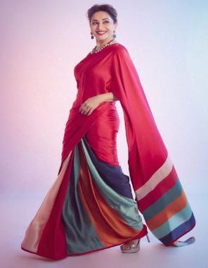 maroon heavy softy silk | blouse - banglory silk fabric digital print work ethic