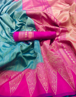 sky blue soft silk fabric weaving  work casual