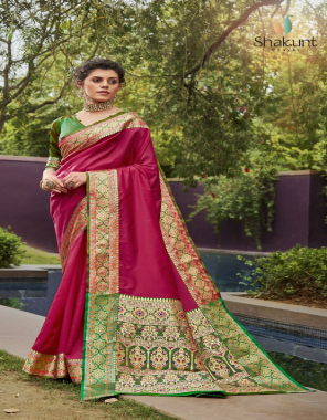 maroon art silk fabric solid woven with rich pallu work casual