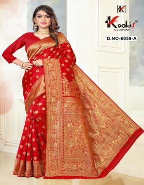 red silk fabric weaving work casual