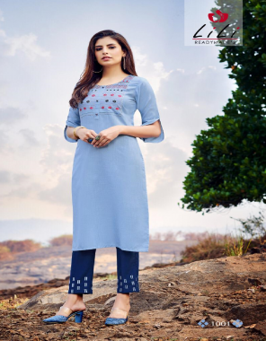 sky blue top - magic slab with embroidery work | pent - magic slab with embroidery work fabric embroidery work casual