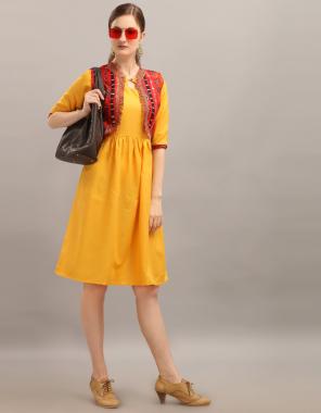 yellow rubi cotton | length up to 40