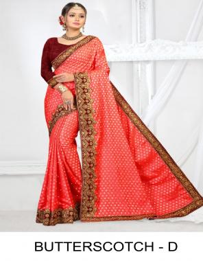 red sana jacquard fabric jacquard work party wear