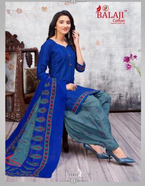 navy blue top 2 m - cotton   bottom 2.50m - cotton   dupatta 2m - cotton fabric printed work casual