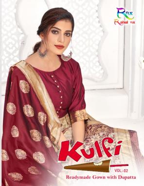 maroon top - banarasi silk jacquard work | inner - craff  | dupatta - banarasi jacquard fabric jacquard work festive