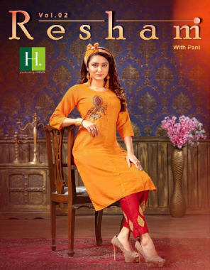yellow top - resham silk with embroidery | bottom - cotton with embroidery ( with pocket )  fabric embroidery  work festive