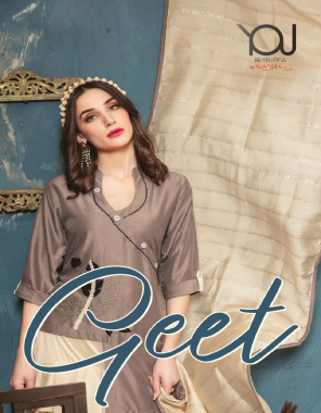 brown top - finest quality of livex silk heavy with skirt & dupatta fabric embroidery work casual